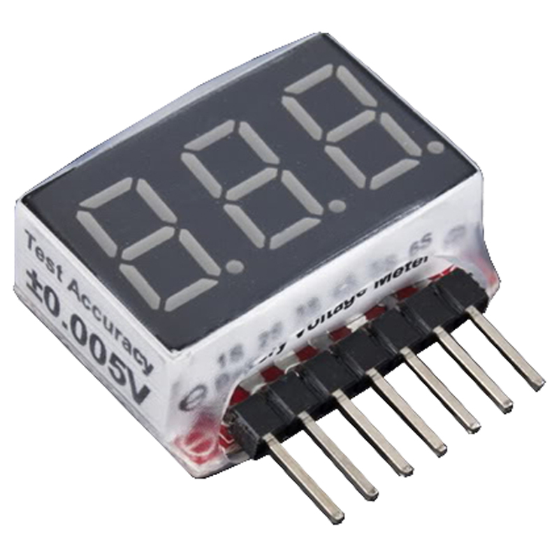 1~ 6S LiPo Battery Voltage Checker